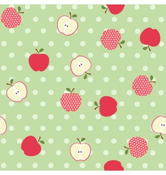 Seamless apple background vector