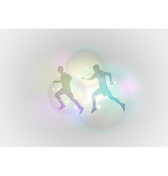 sport abstract run vector image