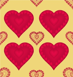 Valentines day seamless texture heart with hearts vector image vector image