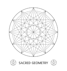Sacred geometry symbol stock vector