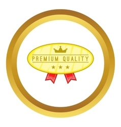 Premium quality label icon vector
