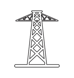 Pictogram electrical tower transmission energy vector