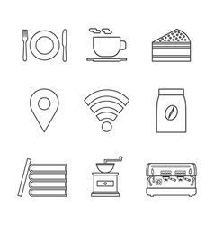 124coffee shop icon outline vector