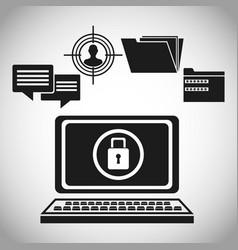 computer data protection padlock vector image