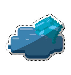 diamond pixelated videogame vector image