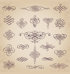 Decorative calligraphic design elements vector