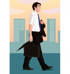 Business walk vector