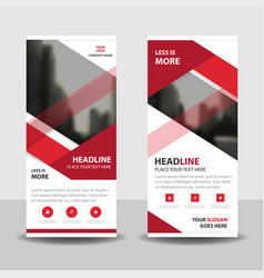Red business roll up banner flat design vector