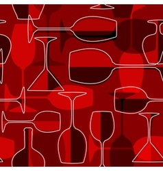 Seamless wineglass background vector