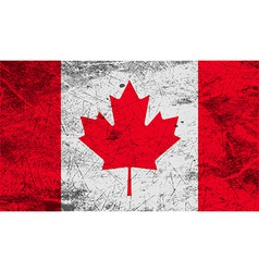 Flag of canada with old texture vector