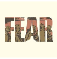 Fear sign vector