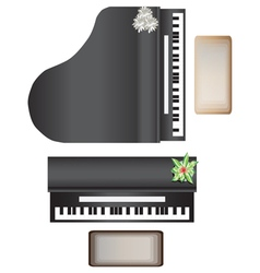Piano top view for interior vector