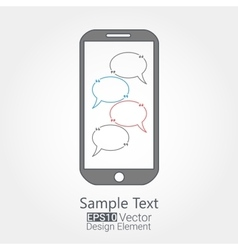 Cellphone chat concept vector