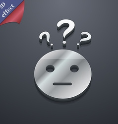 Question mark and man incomprehension icon symbol vector