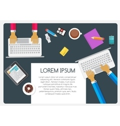Abstract Background on Business Theme with Empty vector image