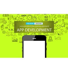 App development infpgraphic concept background vector