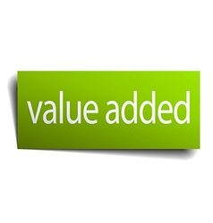 Value added square paper sign isolated on white vector