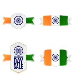 India independence day realistic banners set vector