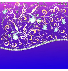 Background and ornament of precious stones vector