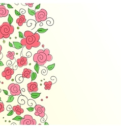 Background with hand drawn flower pattern vector image vector image