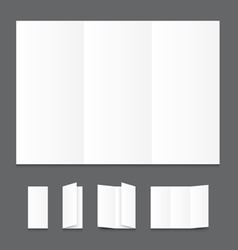 Blank white folding paper flyer vector