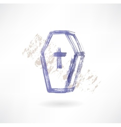 coffin grunge icon vector image vector image
