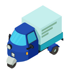 delivery car icon isometric style vector image