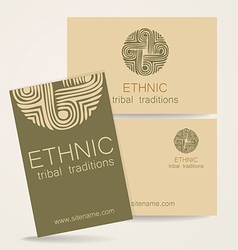 ethnic traditions logo vector image vector image