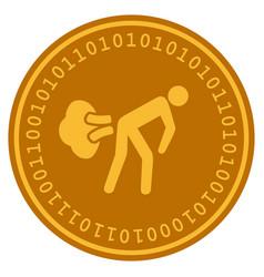 Fart gases digital coin vector