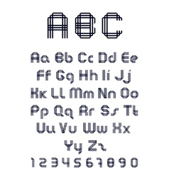font from three strips vector image