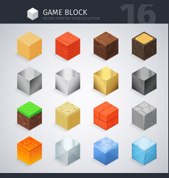 Isometric material cubes vector
