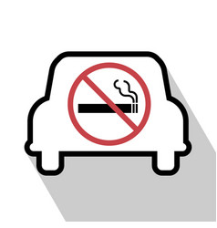 No smoking sign in the car vector