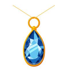 Pendant with a diamond icon cartoon style vector