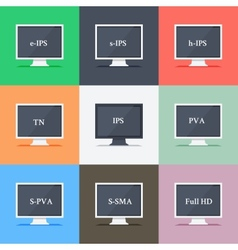Responsive web design on different monitors vector image vector image