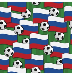 Russia football pattern vector