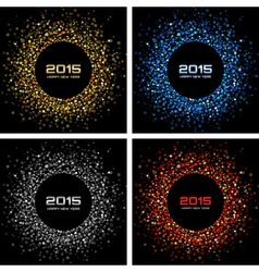 Set of Colorful Bright New Year 2015 Backgrounds vector image vector image