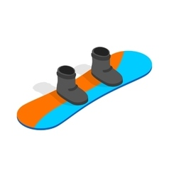 Snowboard with boots icon isometric 3d style vector image vector image
