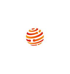 sphere technology company logo vector image