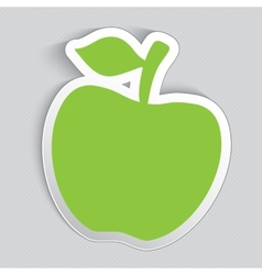 Sticker label in a shape of apple vector