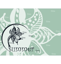 summer zentangl background vector image vector image