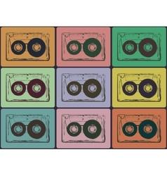Tape cassettes vector