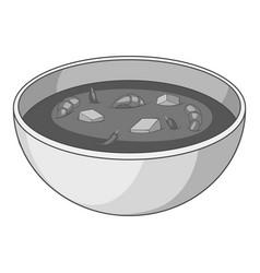 Tom yum thai soup icon monochrome vector