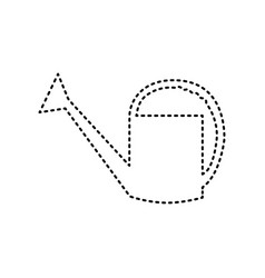 Watering sign black dashed icon on white vector