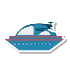 yacht luxury transport isolated icon vector image