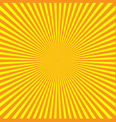 Yellow-orange rays of light in radial arrangement vector