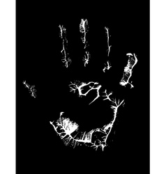 fat human hand imprint on black vertical vector image
