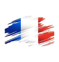 Flag France in the form traces brush vector image