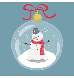 Bright of hand drawn snow globe vector image