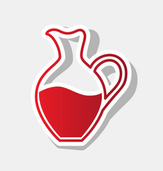 Amphora sign  new year reddish icon with vector