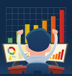 Successful business people from playing the stock vector